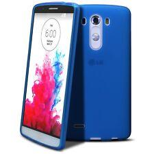 Coque Housse Pour LG G3 Semi Rigide Extra Fine Mat/Brillant Bleue