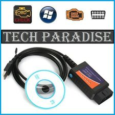 Interface Valise diagnostic diagnostique ELM327 OBDII Bluetooth USB Multi Marque