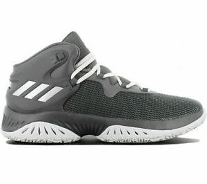 Adidas Men's Explosive Bounce Basketball MID Grey Trainers UK 7.5 EU 41 1/3