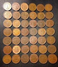 Vintage Norway Coin Lot - Ore - 1952-1957 - 42 Great Coins - Lot #J17