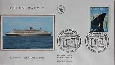 ENVELOPPE PREMIER JOUR - 9 x 16,5 cm - ANNEE 2003 - QUEEN MARY 2 - ALSTOM MARINE