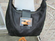FENDI Radica Black Turtle Colo Chain Leather Zip Hobo Handbag $1450