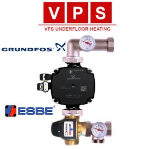Grundfos UPM3 Wet Underfloor Heating Pump & Mixing Valves Manfold Control Pack