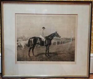 Antique Print of Flying Fox 1899 Triple Crown Winner by Allen Culpepper Sealey
