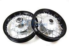 "10"" FRONT AND REAR RIM WHEEL DRUM BRAKE HONDA XR50 CRF50 STOCK 12mm I RM01K+02K"