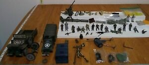 21ST CENTURY UNIMAX MILITARY TRUCKS ACTION FIGURES  MIXED LOT FOR PARTS