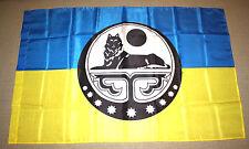 """FLAG UKRAINE ARMY: CHECHEN SOLDIER VOLUNTEER BATTALION """"CRAZY FLOCK"""""""