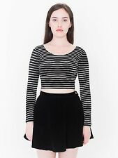 American Apparel Natural Denim Circle Jean Flare Skirt All Jet Black Size L EUC.