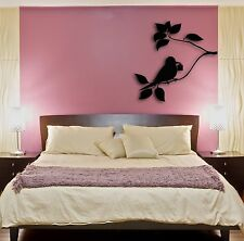 Wall Stickers Vinyl Decal Bird Sitting On a Branch Tree Floral Decor z1592