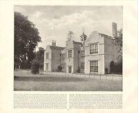1894 VICTORIAN PRINT ~ FORD HOUSE NEWTON ABBOT BERWICK ~ PLUS DESCRIPTIVE TEXT