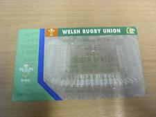 15/12/1996 Wales v South Africa [At Cardiff Arms Park] [Rugby Union Ticket Compl