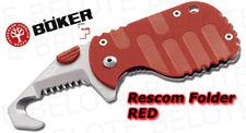 Boker Plus Rescom Folder RED Seatbelt Cutter 01BO584