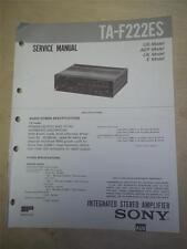 Sony Service Manual~TA-F222ES Amplifier/AMP~Original~Repair