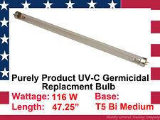 "Purely Product PUVLB115 116 watts T5 Bi medium Base 47.25"" UV Light Bulb"