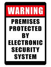 NO TRESPASSING WARNING Security System SIGN NO Rust Aluminum COLOR D#244