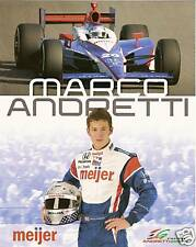 2009 MARCO ANDRETTI INDIANAPOLIS 500 IRL HERO PHOTO CARD POSTCARD #1 INDY CAR