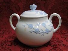 Spode Geisha Light Blue, Flowers, Blanche De Chine: Sugar Bowl & Lid