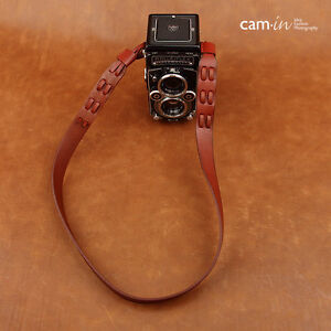 New Cam-in Leather Wine Red Neck/Shoulder Strap for Pentax Rolleiflex 2.8F 3.5F