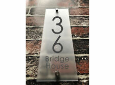 Custom 200x140mm Modern Frosted House sign acrylic number name plaque