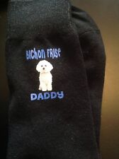 GIFT BOXED BICHON FRISE DADDY PRINTED SOCKS BIRTHDAY PRESENT DOGS DAD MENS