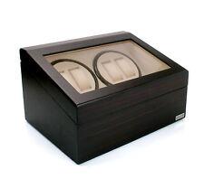 Axe de luxe matte cherry quad automatique 4 watch winder new