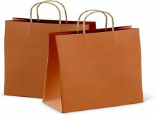 25ct Orange Kraft Paper Bag Party Shopping Gift Bags With Handles 16x6x12