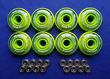 Indoor Rollerblade Inline Hockey Skate Wheels (72mm / 74A) + ABEC 9 Bearings