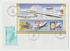 Madagascar Concorde premier jour non dentelé British Airways imperf FDC