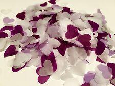 Violet, lilas & COEUR BLANC MARIAGE CONFETTIS-tableau decorations-biodegradable