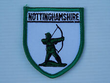 VINTAGE NOTTINGHAMSHIRE ARCHER EMBROIDERED SOUVENIR PATCH WOVEN CLOTH SEW BADGE