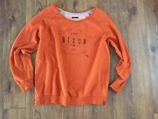 Nixon Awesome Boyfriend Fit Hoodie Sweatshirt Sz M