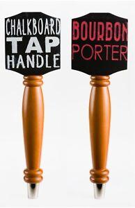 Bundle 2 Pack - Chalkboard Tap Handle For Draft Beer Lover's Kegerator or Bar
