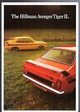 Hillman Avenger Tiger II 1972-73 UK Market Foldout Sales Brochure