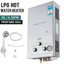 16L Propan Gas Durchlauferhitzer Warmwasserbereiter Boiler Wasser
