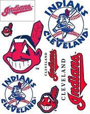 Cleveland Indians Scrapbooking Craft Sticker Sheet Set #1