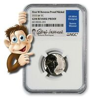 2020-W Jefferson Nickel Signed By Donna Weaver -- NGC Gem Reverse Proof