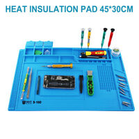UK Anti Static Magnetic Heat Insulation Silicone Pad Desk Mat For Solder Repair