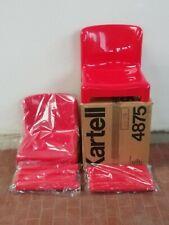 Kartell 2 Sedie 4875 rosse  Design Carlo Bartoli in scatola mai montata anni 70