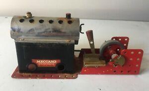MECCANO MAMOD  STEAM ENGINE WITH METHS BURNER ~ GOOD USED CONDITION