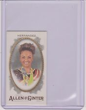 2017 ALLEN & GINTER LAURIE HERNANDEZ BROOKLYN BACK MINI CARD 05/25 ~ GYMNASTICS