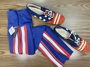 Free People Movement + Onzie Navy High Rise Leggings SIZE S/M + Patriotic Shoes!