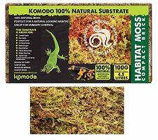 Komodo Habitat Moss Compact Brick 100g Frogs Snails Reptiles