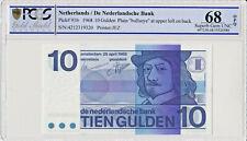 Netherlands 10 Gulden 1968 P91b PCGS 68 OPQ  superb gem UNC