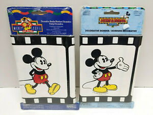 Mickey Mouse Disney Decorative Wall Border - 2 Packages