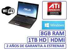"PORTATIL ASUS gama 2017 15"" 8GB 1 TB grafica HDMI ATI RADEON 8210 WINDOWS WIFI"