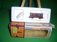 """LIMA """"N"""" MICROMODEL WAGON COUVERT MARCHANDISES Réf : 454"""