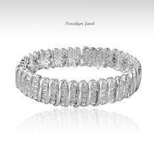 Genuine 2.00 CT Diamond 14K White Gold Finish Tennis Bracelet 7.5 inches