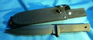 "SRK Cold Steel Carbon V Made in USA Hunting Survival Knife  6""  Black Blade NEW"