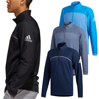 adidas Golf Mens Go-To 1/4 Zip Water Resistant Pullover Sweater 43% OFF RRP