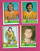 1974-75 OPC SEALS WEIR RC + MOTT RC + FRIG RC + HAMPTON RC  CARD (INV# C0065)